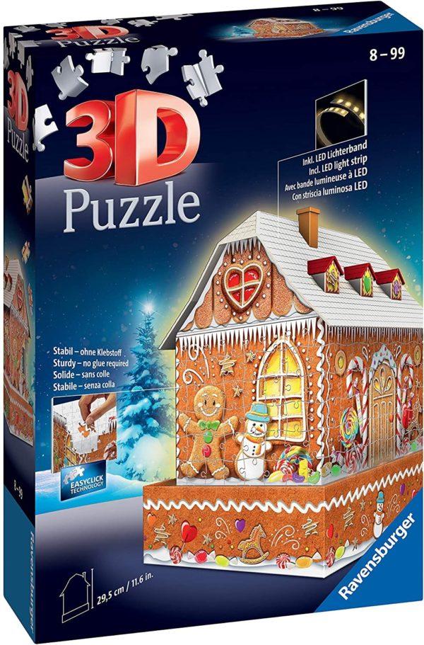 RAVENSBURGER - PUZZLE 3D CASITA JENGIBRE