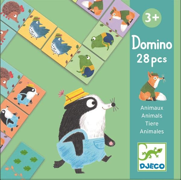 DJECO - DOMINO DE ANIMALES 28 PZS