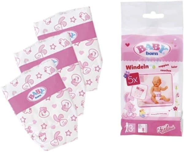 BABY BORN - PACK DE 5 PAÑALES